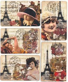 ATC 's Meet Me In Paris Series by mollycakes, via Flickr
