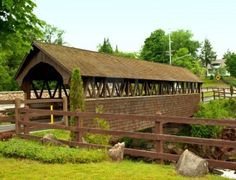covered bridge in old forge ,new york