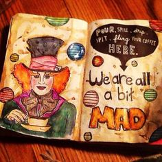 Alice in wonderland Inspired wreck this Journal page #wreckthisjournal #kerismith
