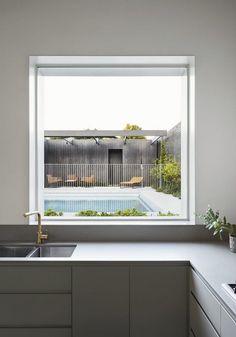 Garden Room House by Clare Cousins Architects - Residential Architecture - The Local Project Garden Architecture, Residential Architecture, Interior Architecture, Interior Design, Clare Cousins, Polished Concrete Flooring, Glazed Walls, Brickwork, Exposed Brick