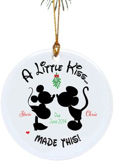 Personalized Christmas Ornaments  A Little Kiss Made This...Pregnancy Ornament on Etsy, $9.25