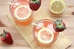 Sparkling Strawberry Lemonade