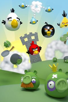 Angry Birds Iphone 4 Wallpaper Mobile 3d 640x960