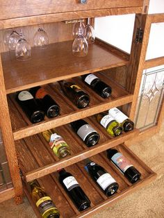 Wine Cabinet, mission style