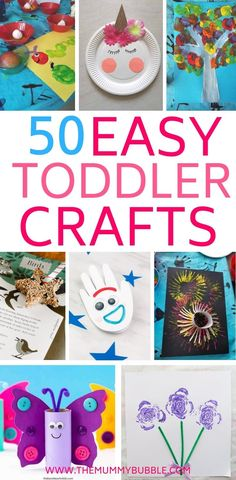 50 fun crafts for bored toddlers
