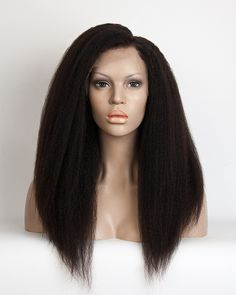 Eseewigs Sale with Italian Coarse Yaki High Density Kinky Straight Full Lace Wig Human Hair Wigs For Black Women Cheap Lace Front Wigs, Straight Lace Front Wigs, Straight Hair, 360 Lace Wig, Lace Wigs, Natural Hair Wigs, Natural Hair Styles, Organic Hair Care, Wigs For Black Women