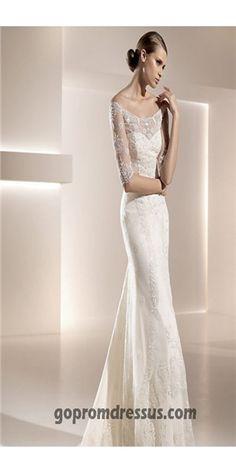 Mermaid Wedding Dresses I like the sleeves on this