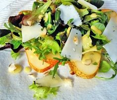 Pears and gruyere salad | Not Just Olive Oil