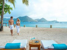 Lucia all-inclusive honeymoon packages are for couples looking for off the beaten track Caribbean honeymoons. Find the best all-inclusive resorts along with everything you need to know about St Lucia honeymoons. All Inclusive Honeymoon Packages, All Inclusive Vacations, Honeymoon Destinations, Honeymoon Tips, St Lucia Honeymoon, St Lucia Resorts, Luxury Beach Resorts, White Sand Beach, Palm Beach