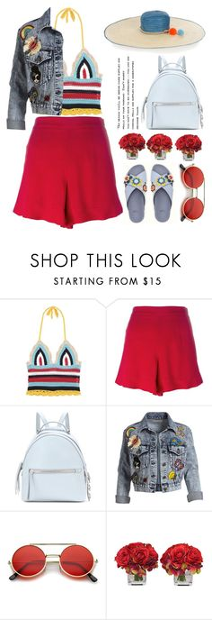 """""""Flippy shorts"""" by jan31 ❤ liked on Polyvore featuring RED Valentino, Fendi, Alice + Olivia, ZeroUV, The French Bee and Sophie Anderson"""