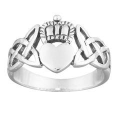 celtic knots claddagh - friendship, loyalty, love.  sterling silver.    limoges
