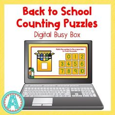 This fun digital busy box is perfect for online instruction or distance learning with your preschool, pre-k, or kindergarten kiddos! It works on multiple platforms and in the classroom for counting practice! #mrsasroom Counting Puzzles, Counting For Kids, Number Activities, Counting Activities, Preschool Math, Kindergarten Math, Teaching Numbers, Busy Boxes, Crayon Box