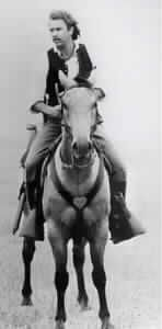 Kevin Costner riding CISCO in Dances With Wolves, the buckskin real name was PLAIN JUSTIN BAR