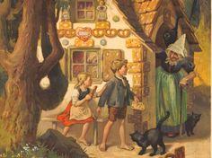 School mural: Hansel and Gretel.  Design Otto Kubel, 1920s. Source: http://www.srf.ch/kultur/gesellschaft-religion/das-maerchen-ist-laengst-nicht-tot