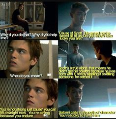 """""""A Promise to the Dead"""" - Liam and Brett Yeah Scott is a badass and you're lucky to have him Teen Wolf Quotes, Teen Wolf Funny, Teen Wolf Boys, Teen Wolf Dylan, Teen Wolf Cast, Dylan O'brien, Stydia, Sterek, Teen Wolf Scenes"""