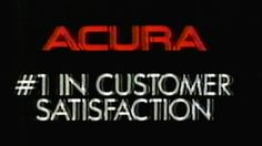 1987 - Commercial - Acura #1 in Customer Satisfaction! - Tri-State Acura...