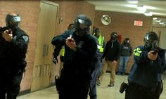 Regional police officer training intensifies with staged school attack...