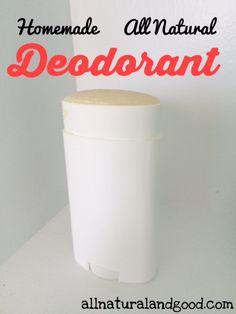 Homemade All Natural Deodorant - All Natural & Good