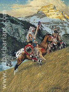 Native American & Western art prints by Frank McCarthy Native American Print, Native American Warrior, Native American Paintings, Native American Pictures, Native American Artists, American Indian Art, Native American History, Indian Paintings, Abstract Paintings
