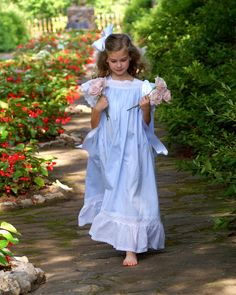 A Little Loveliness: Stroll through the garden in an heirloom dress.