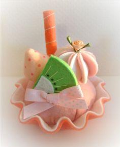 gorgeous felt food cake pincushion ornie toy by nicolaluke on Etsy, $8.00