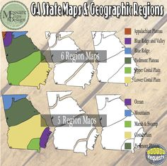 Usa Georgia Maps And Geographic Regions Set Messare Clips And Design