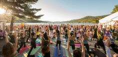 Wanderlust Festivals. Yoga, Meditation, and all sorts of hippy things in cool outdoor locations.