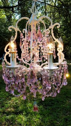 Amazing shabby chic table lamp lighting crystal craft antique pink crystal chandelier romantic cottage chandelier shabby chic chandelier bird cage chandelier home decor aloadofball Images