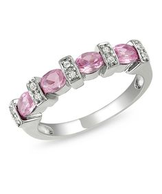 Take a look at this Pink Sapphire & Diamond Ring on zulily today!