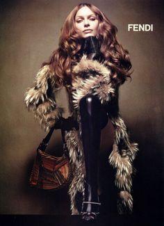 Rie Rasmussen by Karl Lagerfeld for Fendi F/W 2002