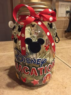 Make a cute Disney Jar and add money to it, to save up for you trip!!