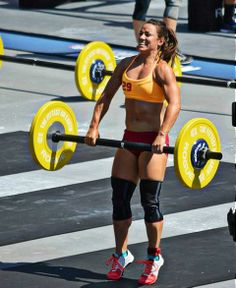 crossfitters:  Camille in The Crossfit Games 2013.