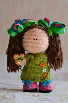 Etsy の Crochet PATTERN doll 22 cm by magicfilament