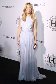 16 May Kate Hudson wore a pleated lilac gown and Atelier Swarovski jewellery to the Harmonist cocktail party. - HarpersBAZAAR.co.uk