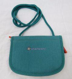 SHERPANI Zoe Small Teal Blue Crossbody Pouch Traveler Wallet ID Purse Bag #Sherpani #MessengerCrossBody