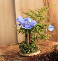 Fairy Accessories ~ Mini Fairy Gaze Ball ~ Miniature Garden Globe with Flora by Olive, fairy houses  fairy garden, fairies, fairy furniture