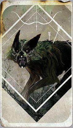 Dragon Age: Inquisition - Inquisitor tarot card - Lavellan Hunter