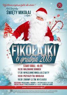 Dziś do Fitness Academy zawita święty Mikołaj! Salę zajmuje MIKOŁAJ i prezenty dla dzieci !!! http://fitnessacademy.pl/skytower/aktualnosci-new/2013/446-fikolajki-i-wizyta-swietego-mikolaja