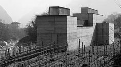 "Museum ""La Congiunta"" in Giornico, Switzerland, by Peter Märkli & Stefan Bellwalder Jean Nouvel, Brutalist, Willis Tower, Natural Stones, Concrete, Construction, Modern, Abstract, Building"