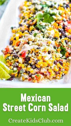 Corn Recipes, Easy Salad Recipes, Easy Salads, Side Dish Recipes, Mexican Food Recipes, Vegetarian Recipes, Healthy Recipes, Healthy Side Dishes, Healthy Snacks