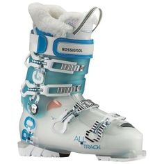 Rossignol Women's Alltrack Pro 80 a great looking ski boot and ultra comfy in stock now. #skiing