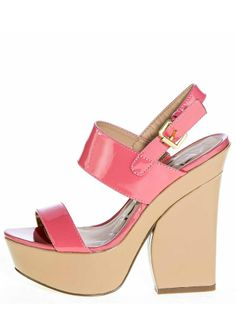 Yes please to these coral-colored heels!