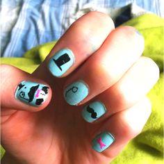 Classy Nails done by Zoë Johnson:)