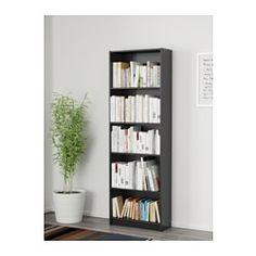IKEA - FINNBY, Bookcase, black, , The shelves are adjustable so you can customize your storage as needed.