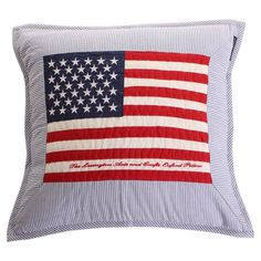 Discover the Lexington Arts & Crafts Cushion Cover - Blue with flag - 50cm x 50cm at Amara