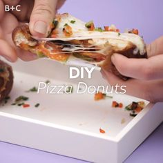 Drooling over this delicious DIY Pizza donut recipe.