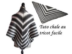 TUTO CHALE POINT AJOURE AU TRICOT FACILE ET RAPIDE tutorial shawl to quick and easy knitting - YouTube