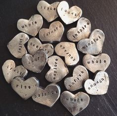 hearts holding the words you most need
