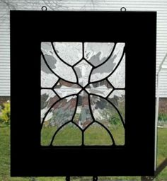 windowcandy/bevel cross panel -  I love her stained glass. Be sure to check her out at: www.etsy.com/...