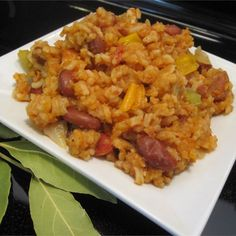 Easy Cajun Jambalaya- added a can of diced tomatoes with chiles. Don't know what real jambalaya tastes like, but this was good. Jambalaya Cajun, Jambalaya Recipe, Homemade Jambalaya, Chicken Jambalaya, Sausage Jambalaya, Great Recipes, Dinner Recipes, Favorite Recipes, Dinner Ideas